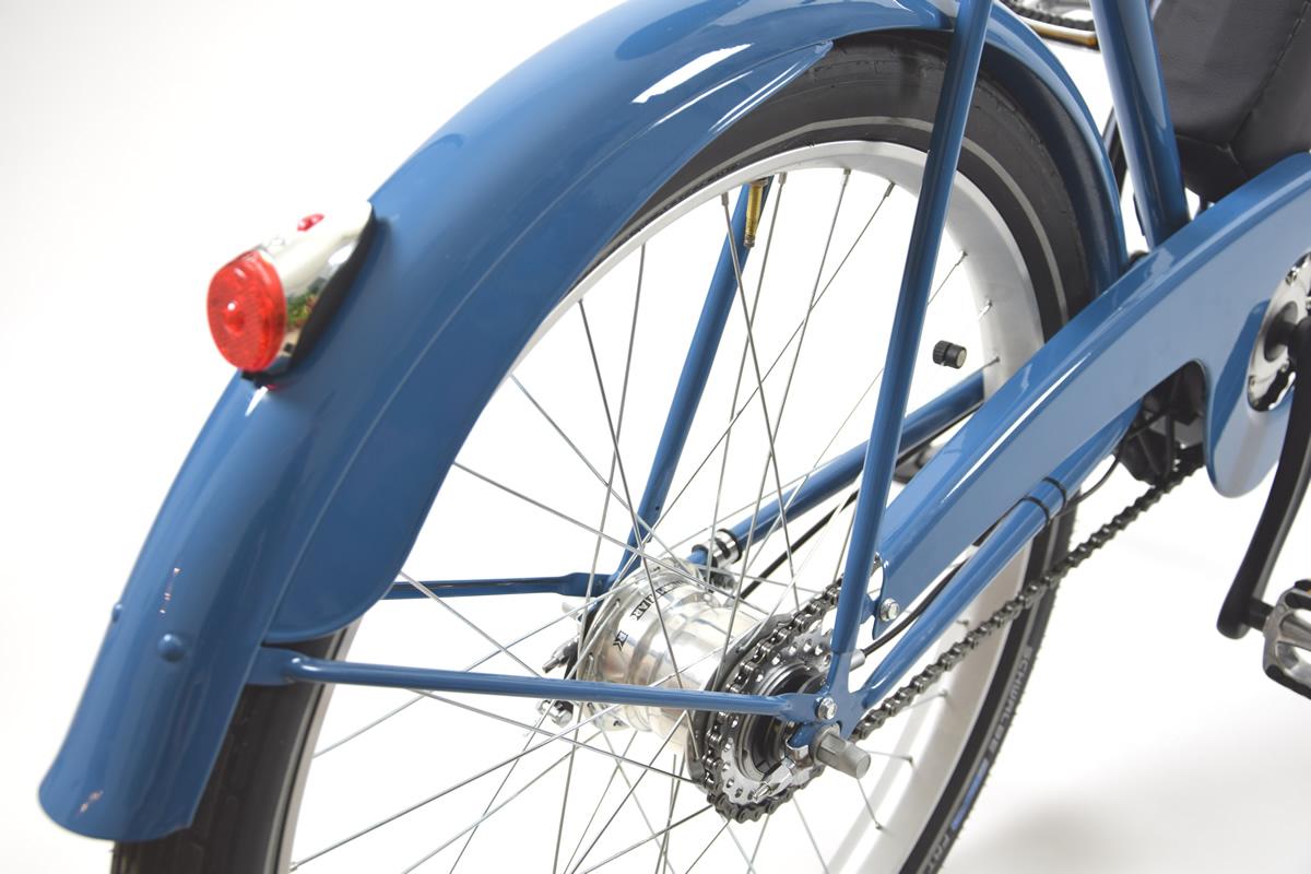 Manopole finta pelle blu blue bicicletta città classica bici retro vintage